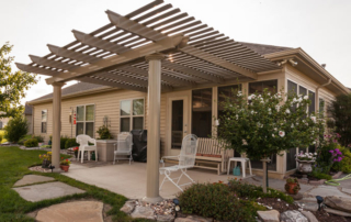 pergola on patio