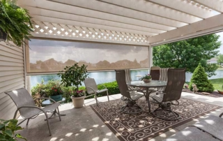 pergola with screen