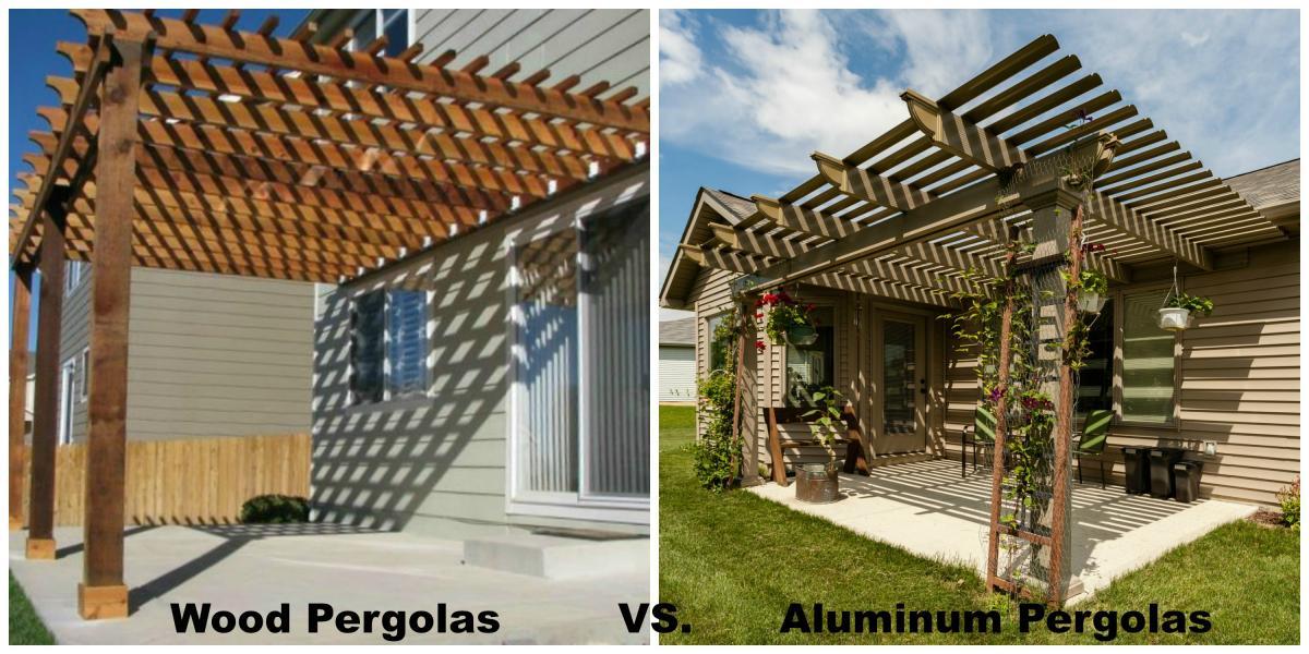 Wood Pergolas Vs Aluminum Pergolas W A Zimmer Company