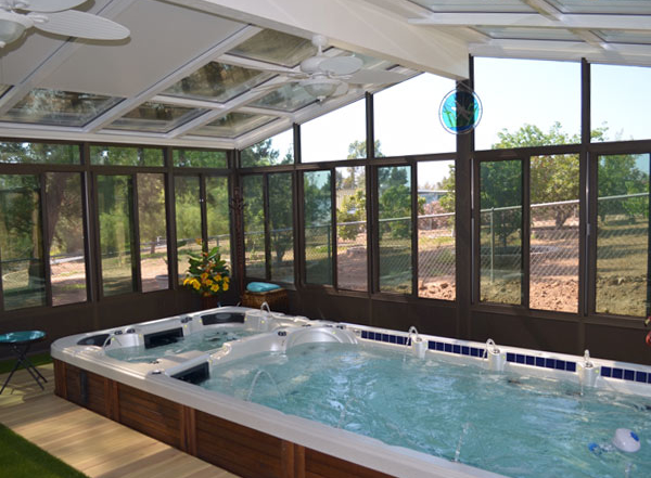sunroom hot tub