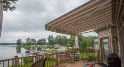lake home deck shade