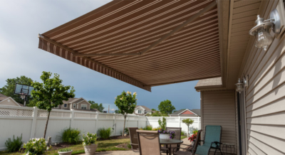 motorized shade awning