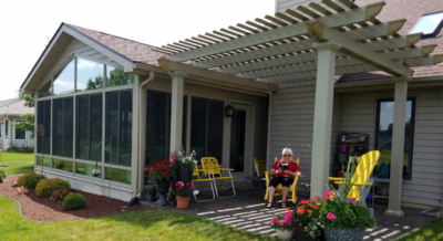 sunroom pergola